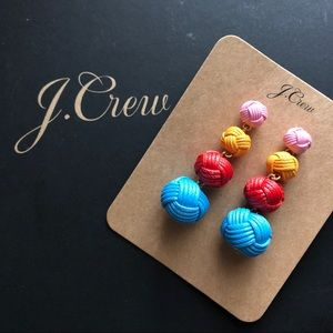 NWT J. Crew knot drop earrings